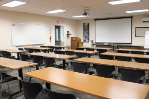 Clinton Room in Classroom Style