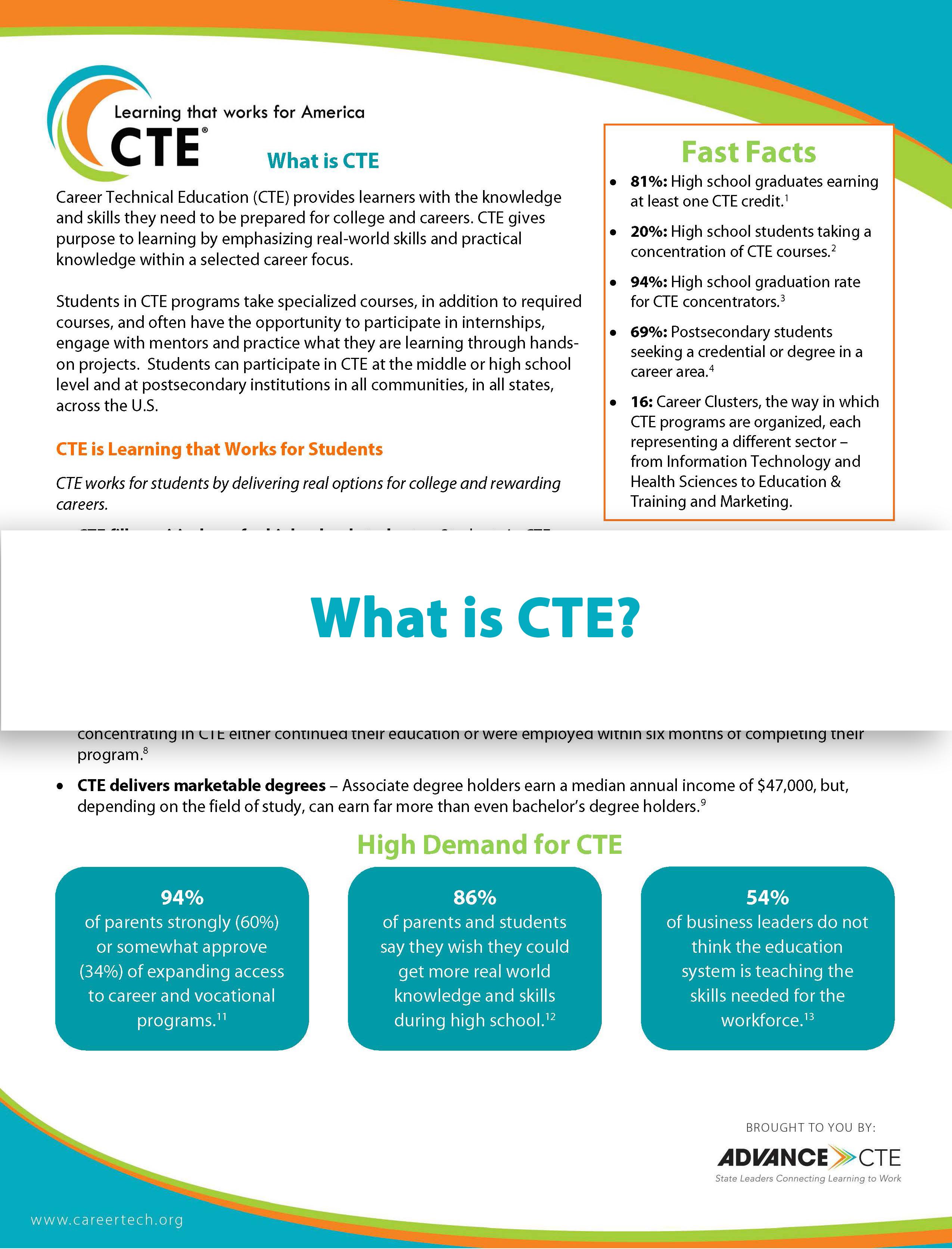CTE_FactSheet