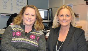 Partnership in action: Shelley Manchester, ISC grant writer (Co-Ser 645 Grant Procurement & Data Analytics) and Michelle Rawson, Principal - Peru Primary School